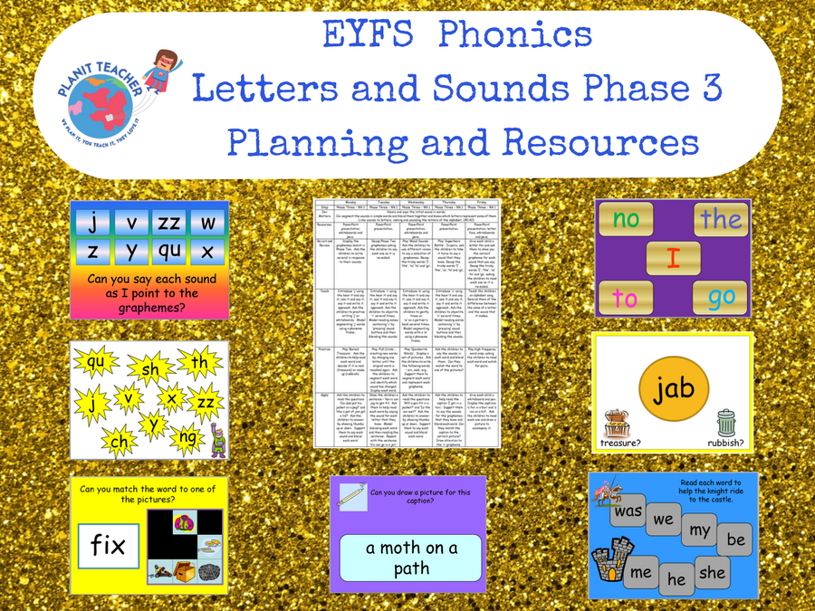 Phase 3 Phonics Letters and Sounds - Planning, PowerPoints and Resources - EYFS