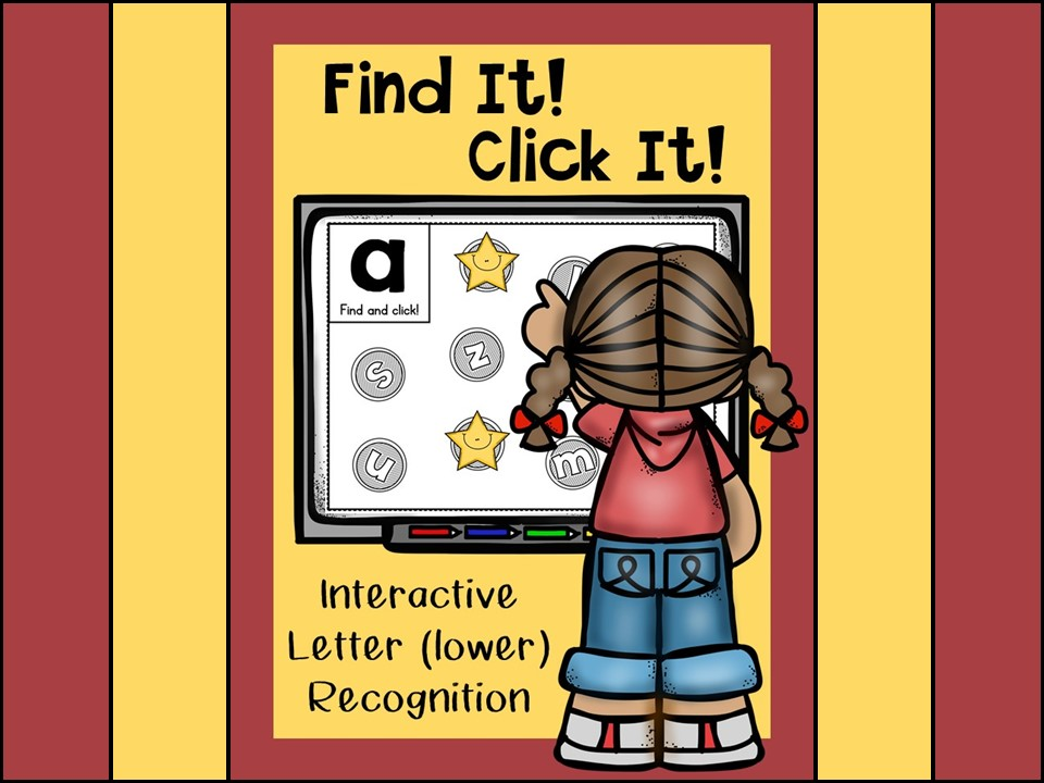 Interactive Letter Lower Case Recognition Powerpoint Game