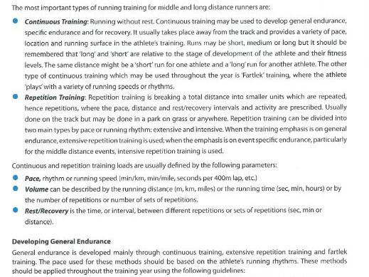 Middle Distance Running - Teaching athletics resource includes everything to teach middle distance.