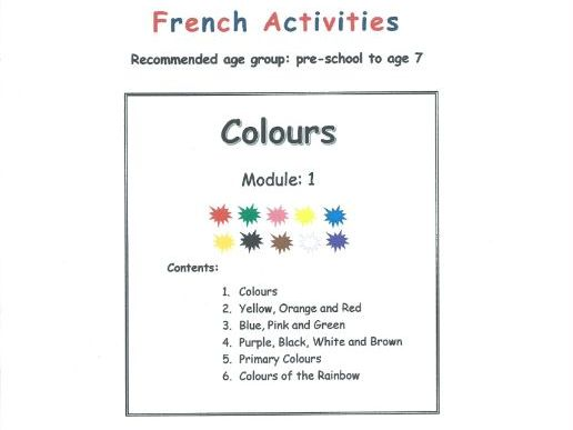 Colours - FRENCH (Module 1)