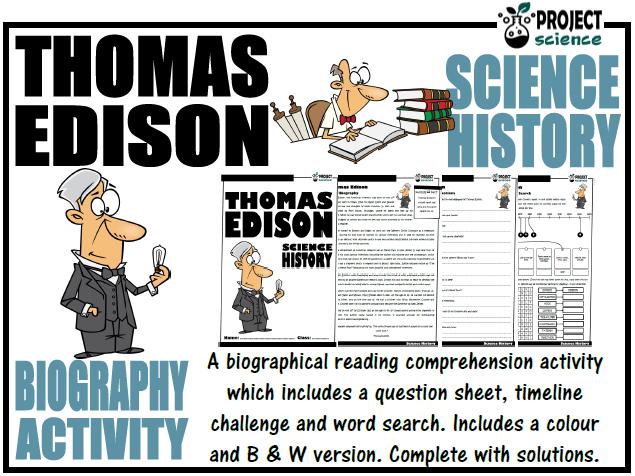Thomas Edison Biography Activity