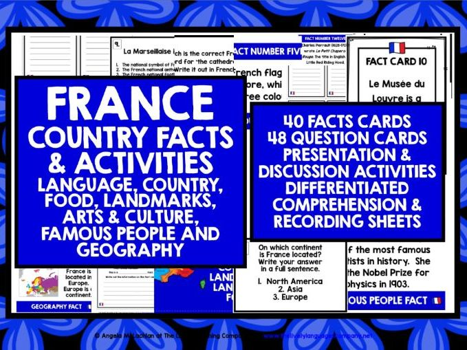 ELEMENTARY FRENCH FACTS ACTIVITIES 1&2