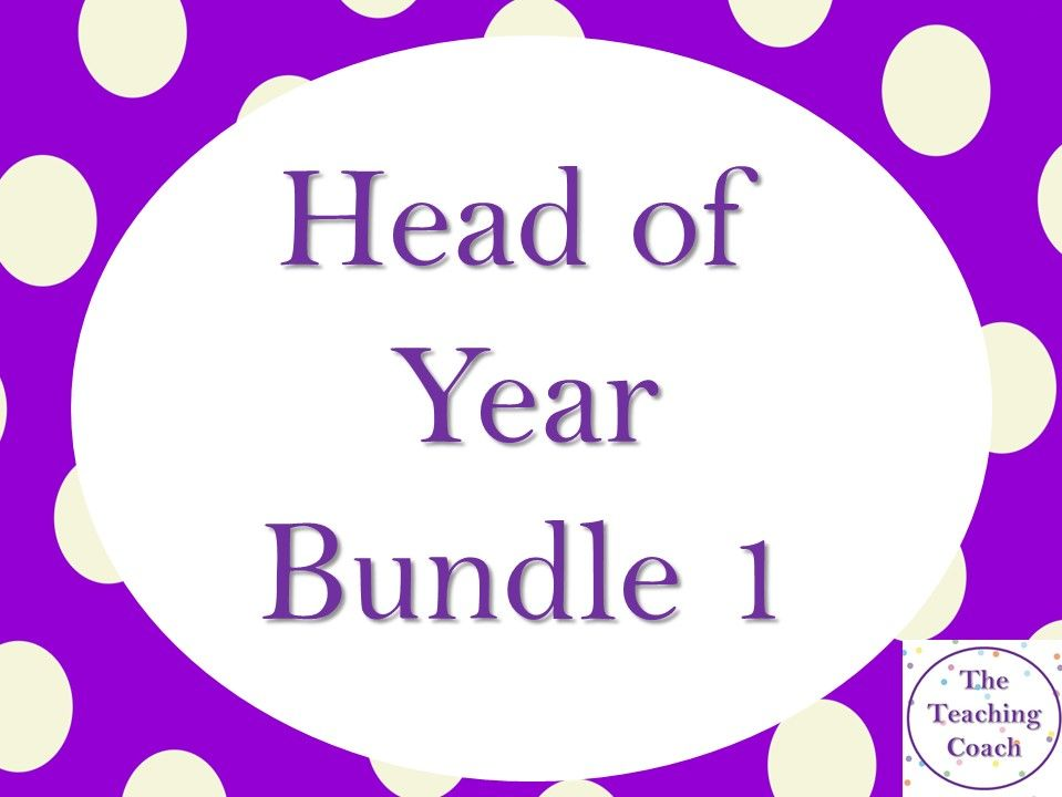 Head of Year - Head of House Pastoral Bundle 1/2