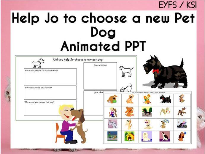 Help Jo Choose a Pet Dog Animated PPT