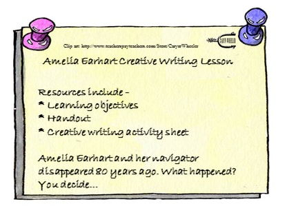 Amelia Earhart Creative writing lesson