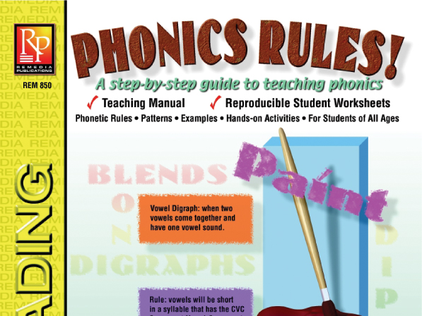 Phonics Rules Teaching Manual Student Worksheets By Remediapub