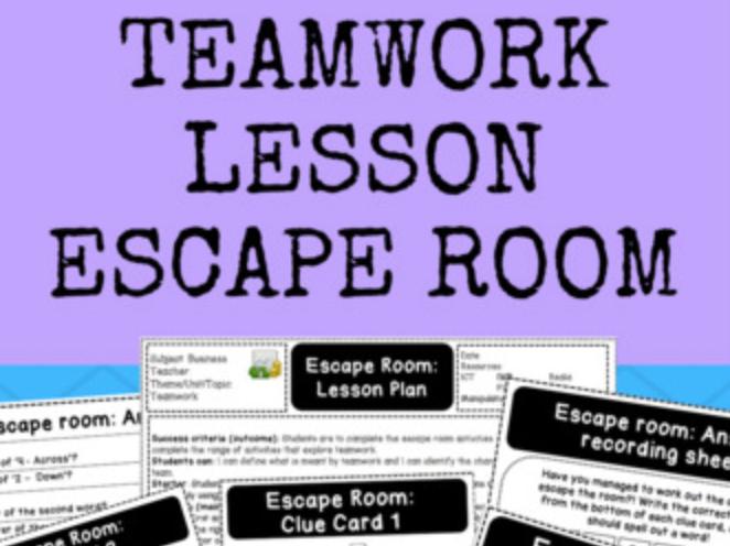 Teamwork Lesson - Escape Room