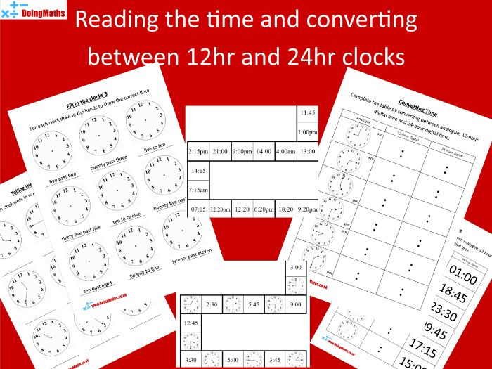 Analogue and Digital Time Worksheets and Puzzles KS 1 and 2