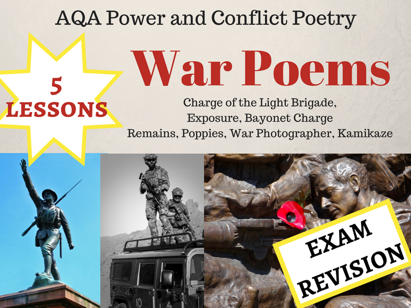 Revision for Power and Conflict - War Poems Exam Preparation - Lessons 18-22