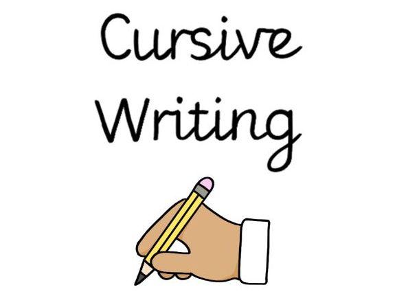 Cursive writing reminder stickers