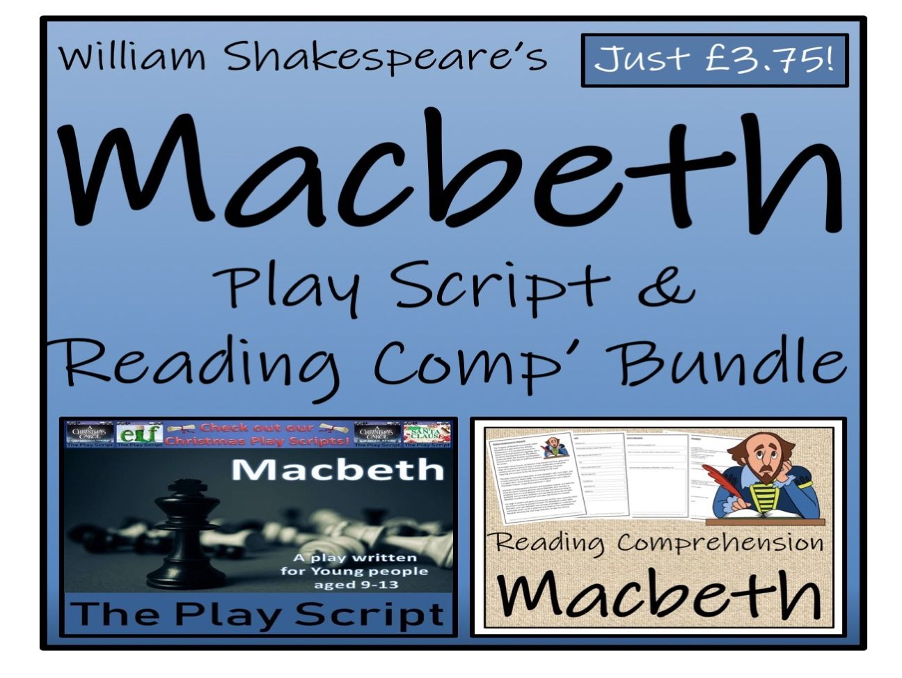 UKS2 Literacy - William Shakespeare's Macbeth - Play Script & Reading Comprehension Bundle