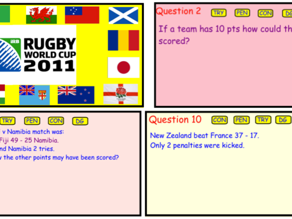 Rugby World Cup Scores - (PDF)