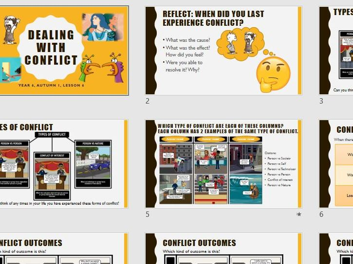 Dealing with conflict - Year 6 PSHE 2020 curriculum
