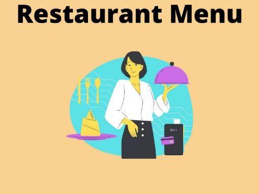 Restaurant Menu Writing Frame