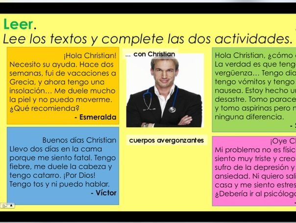 KS3/4 Spanish - ¿Qué te duele? / What hurts?(Parts of the body and health)