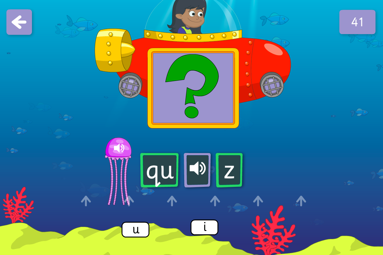 Underwater Words Game - Sets 6-7 Phase 3