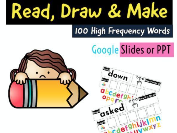 100 HFW- Read/Draw/Make (Google Slides or PPT) x100 Slides