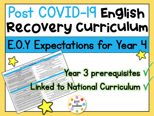Post-COVID Year 4 English Expectations (Recovery Curriculum)