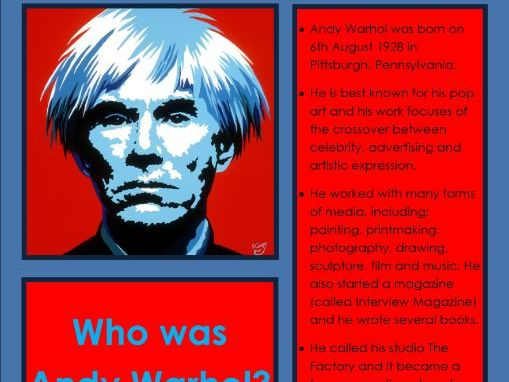Andy Warhol Poster Publisher Art 20th Century Year 6 Work
