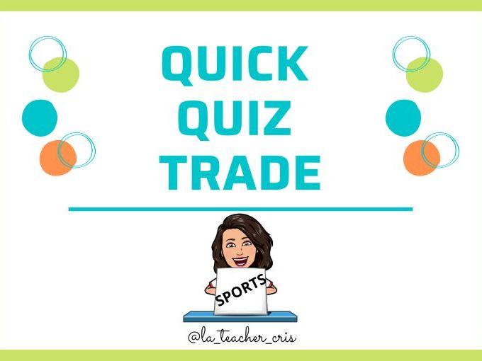 Quick Quiz Trade: Sports