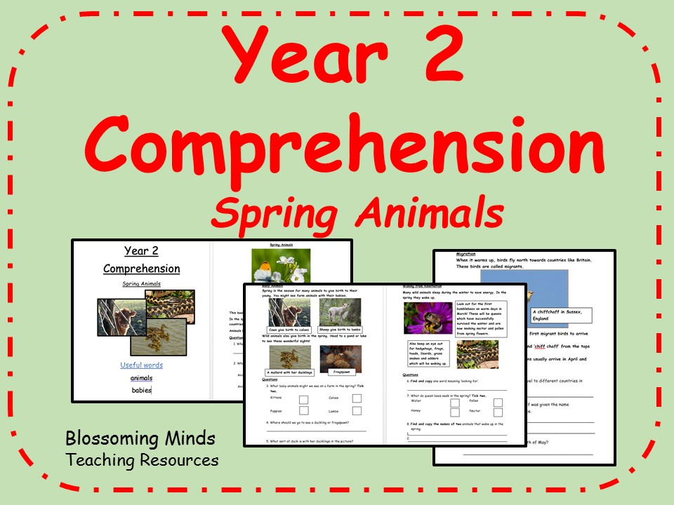 Year 2 SATs style comprehension - Spring Animals