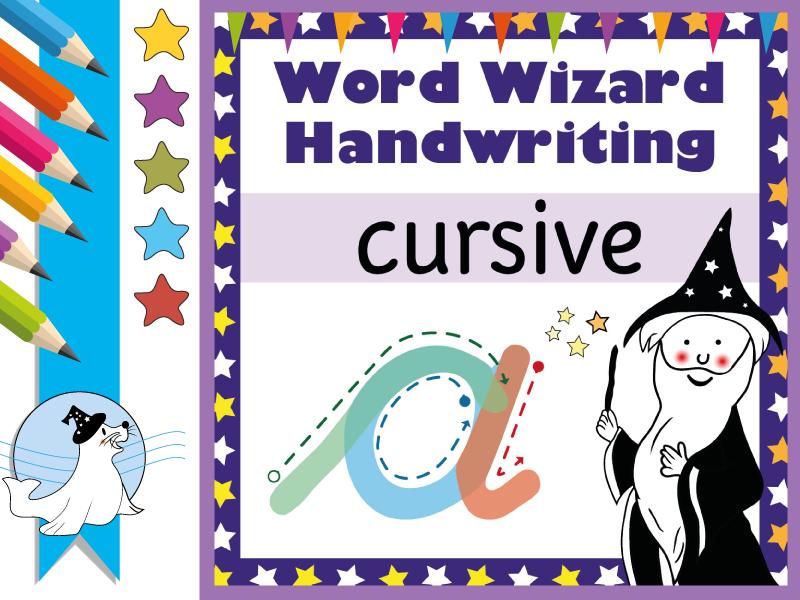 Magic Shapes: Cursive Handwriting Scheme