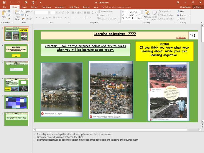 L6 - Nigeria Environment impact (Unit 2, Section B, pt 2/3, NEE Case study) - [AQA GEOG new spec]
