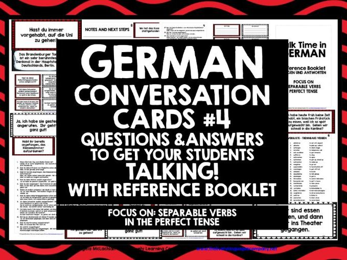 GERMAN CONVERSATION CARDS 4