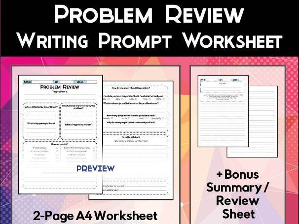 Problem Review Sheet