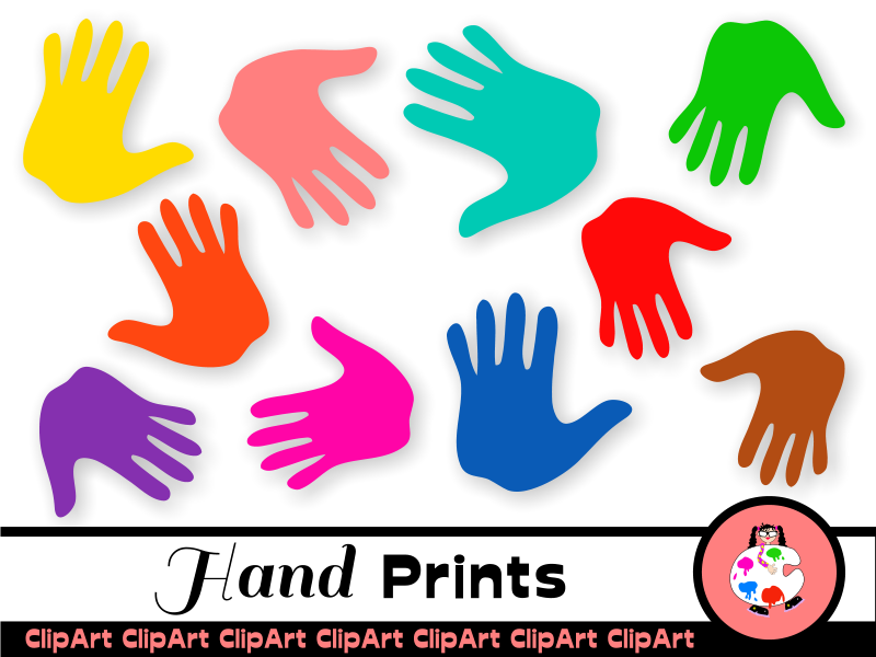 Free Kids Clip Art Hand Prints
