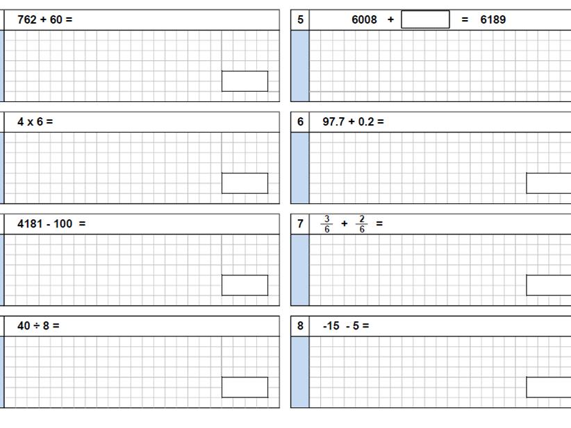 KS2 Arithmetic test generator (paper saving)