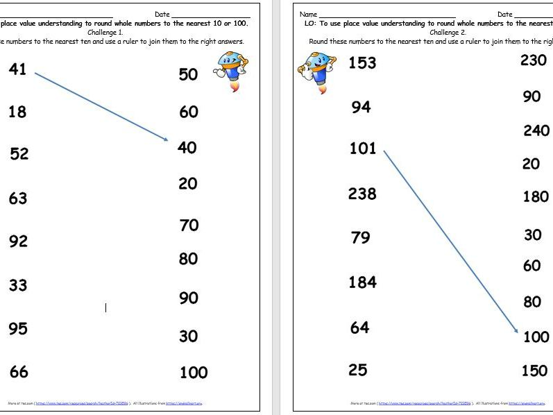 Y3 Y4 Y5 Rounding Numbers To The Nearest 10 or 100