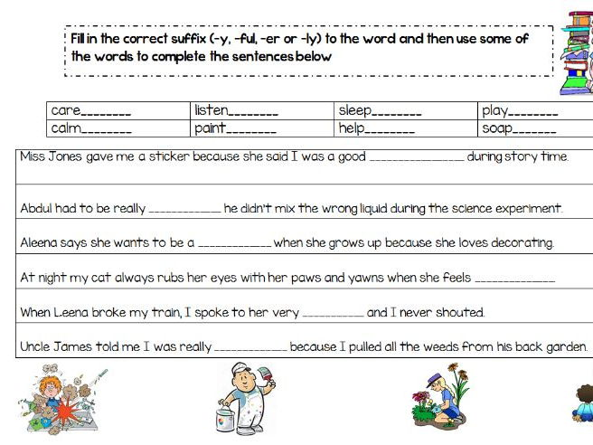 Suffixes - Year 2 Primary