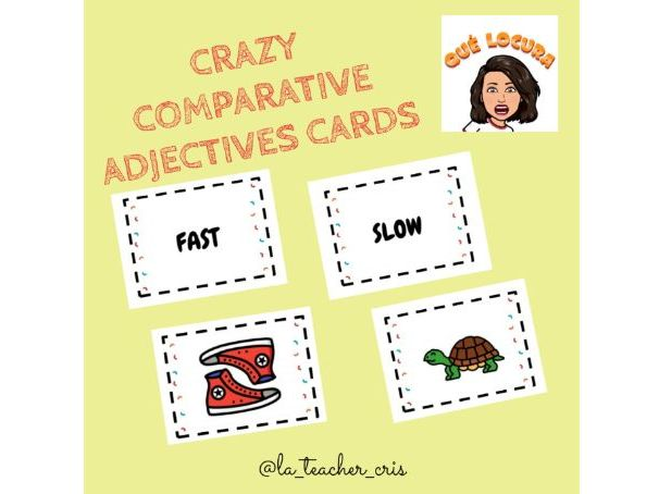 Crazy Comparative Adjectives cards game