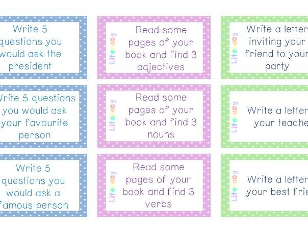 54 Lower Literacy Task Cards for Early Finishers!