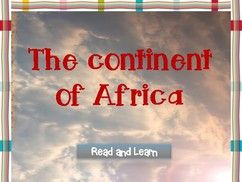 The continent of Africa (mini-lesson)