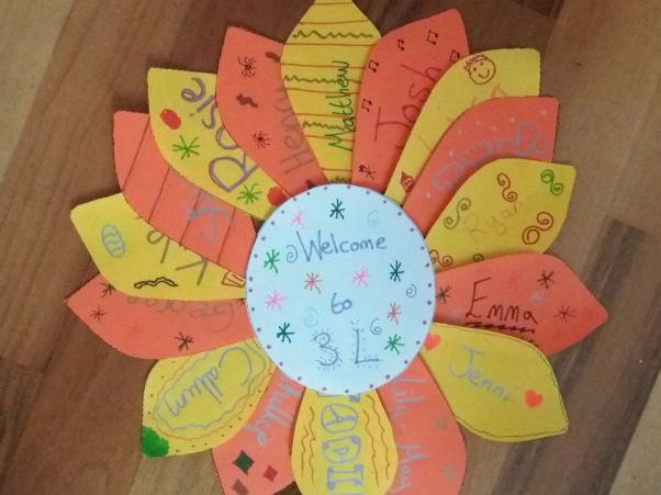 Transition day flower door display! Great to create with new classes!