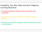 Probability, Two Way Tables and Venn Diagrams