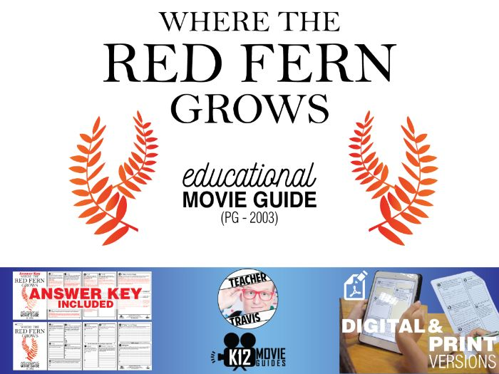 Where the Red Fern Grows Movie Guide | Questions | Worksheet (PG - 2003)