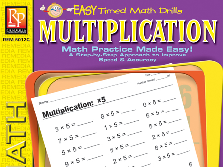 Multiplication: Easy Timed Math Drills