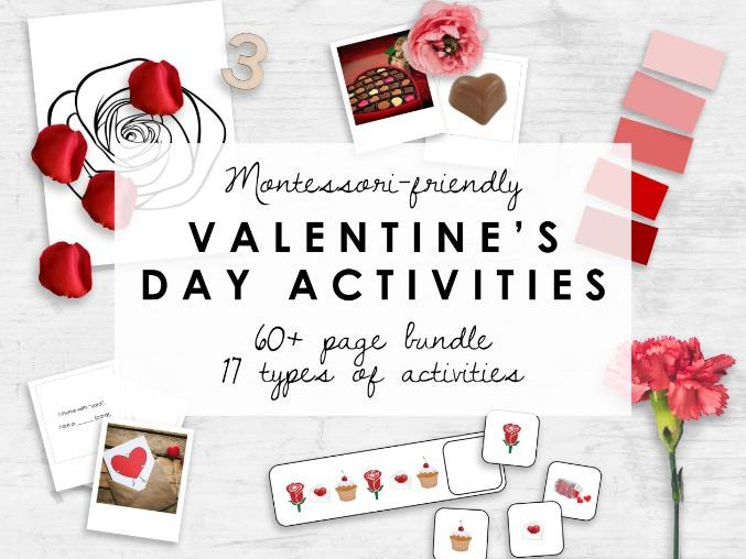Valentine's Day Worksheets & Activities | 60+ Pages | Montessori-Friendly