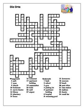 Orte (Places in German) crossword