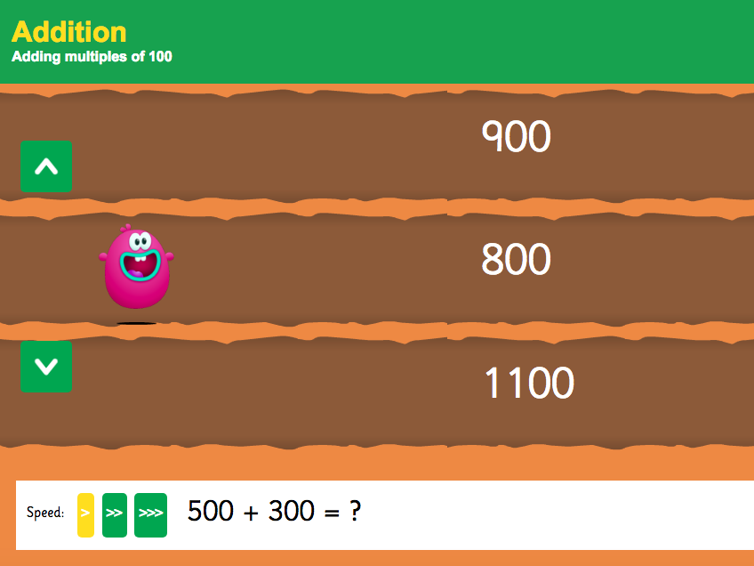 Addition over 100 - Adding Multiples of 100 Interactive Game - KS2 Number