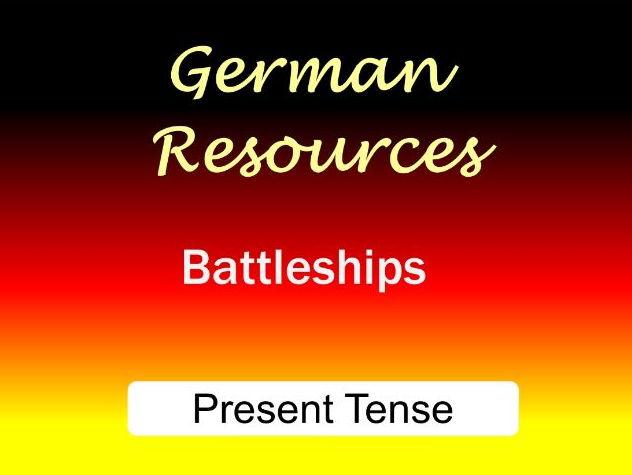 German Activities - Present Tense - Battleships - Speaking