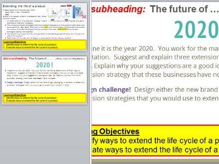 Extension Strategies Mini Project