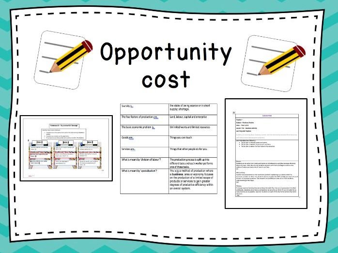 Opportunity Cost Full Lesson