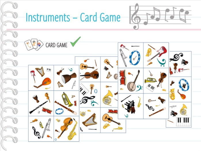 Music / Musical instruments - Card game