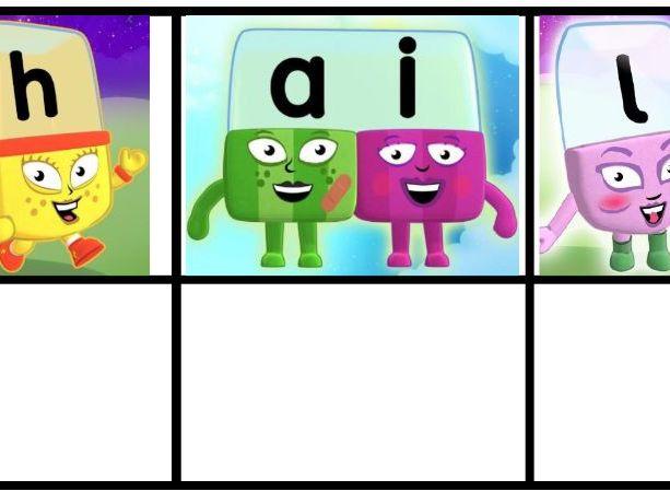 Alphablocks Phoneme Frames Set 3 - ai, ee, igh, oa, oo
