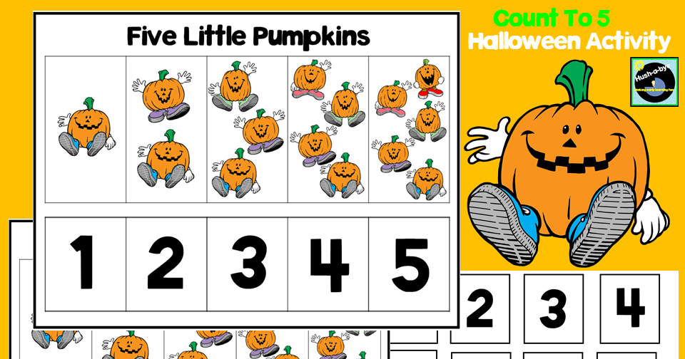 Five Little Pumpkins Counting Activity