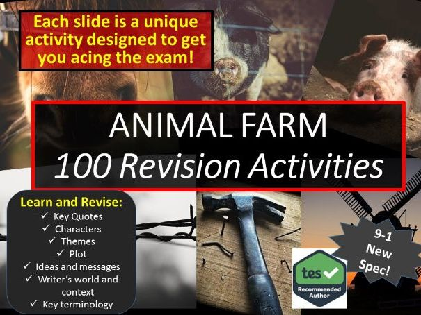 100 Revision activities for Animal Farm